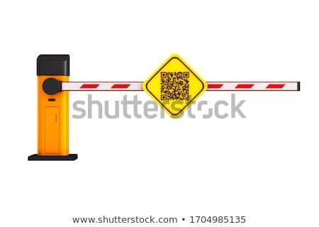 Zamknięte automatyczny qr code biały odizolowany 3d ilustracji Zdjęcia stock © ISerg