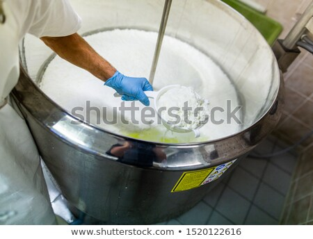 Queso producción lácteo granja primero etapa Foto stock © olira