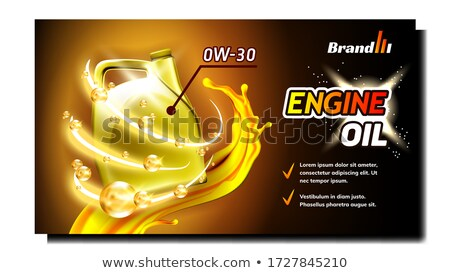 Car Engine Lubrication Oil Promo Poster Vector Stock photo © pikepicture