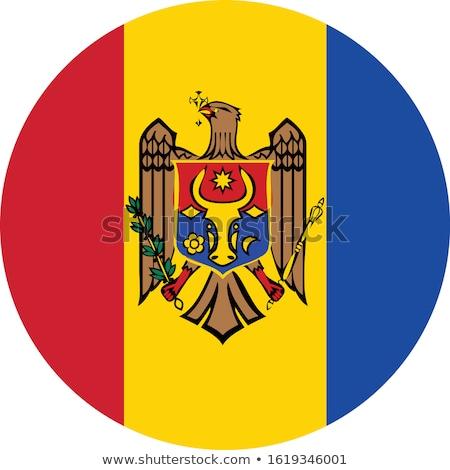 Moldova bayrak beyaz sevmek kalp arka plan Stok fotoğraf © butenkow