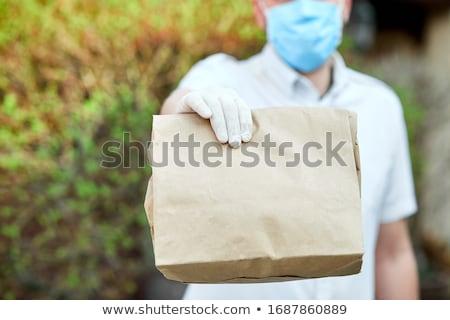 Koerier medische online boeket Stockfoto © Illia