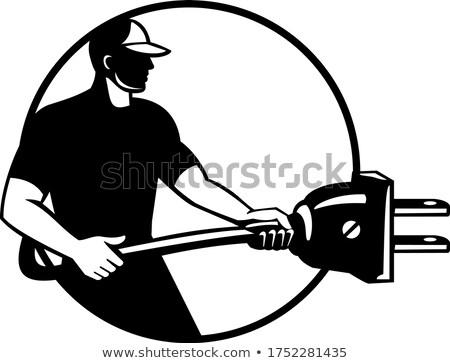 Eletricista elétrico mecânico elétrico plugue Foto stock © patrimonio