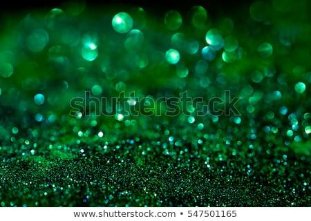 Verde diamante vidro isolado branco jóia Foto stock © Saphira
