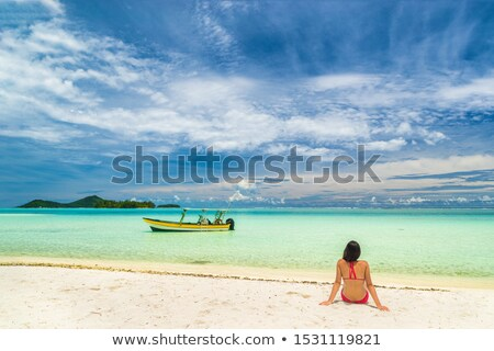 Lüks cennet plaj fransız polinezya ada Stok fotoğraf © Maridav