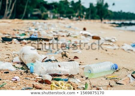 Plastic Pollution And Waste Contamination On Seashore Stock photo © diego_cervo