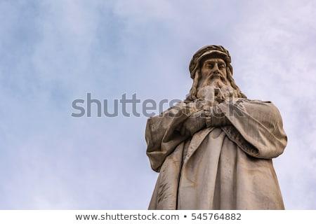 Statue of Leonardo Da Vinci in Milan Stock photo © johnnychaos