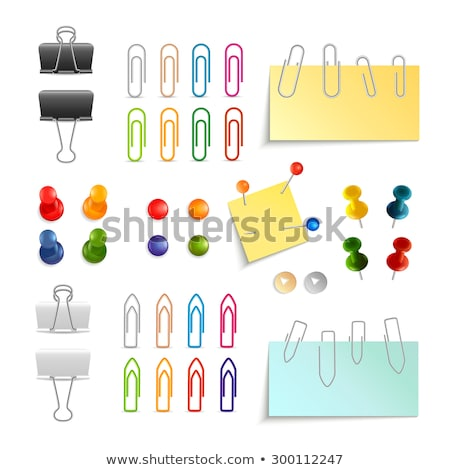 Colored paper clips and pins Stock photo © Borissos