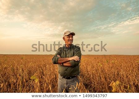 Landbouwer boerderij portret zwarte witte mannelijke Stockfoto © photography33