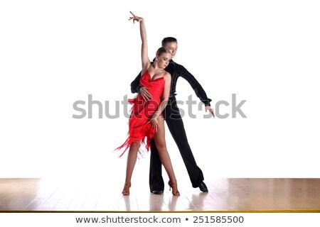 young latino woman dancer posing on white Stock photo © feedough