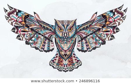 abstract owl illustration Stock photo © prill
