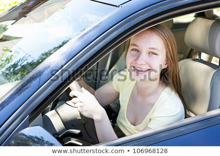 Blond teenage learner driver Stock photo © photography33