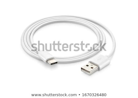usb cable on white Stock photo © marylooo