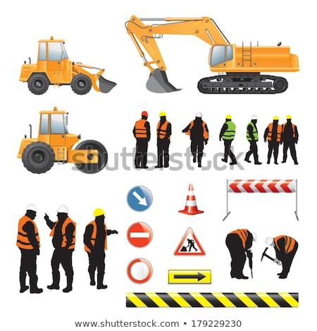 человека · строительство · работник · студию · инструментом - Сток-фото © photography33