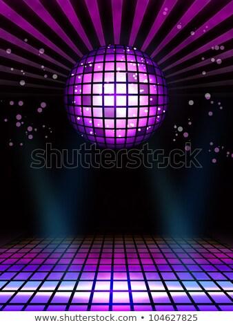 аннотация Техно дискотеку магия мяча плакат Сток-фото © simpson33
