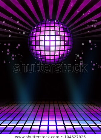 Abstract techno disco magic ball poster background Stock photo © simpson33