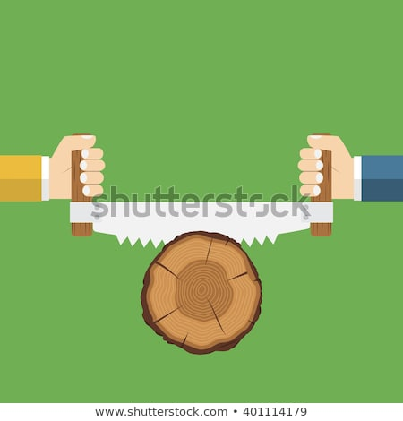 Timmerman twee hout hand man Stockfoto © photography33