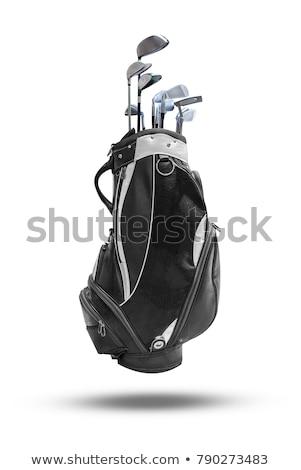 Sacca da golf viola isolato bianco bag gioco Foto d'archivio © ozaiachin
