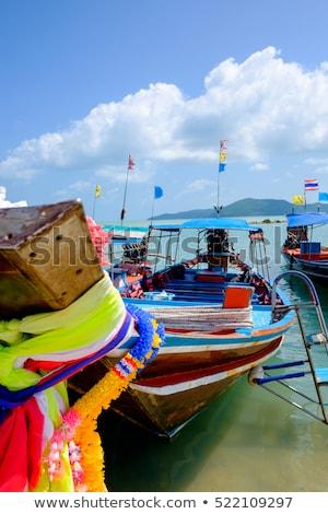голову долго хвост рыбак лодка морем Сток-фото © Witthaya