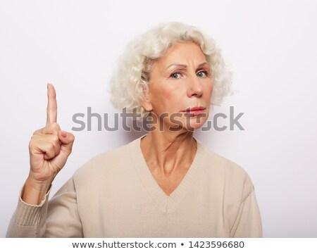 gyönyörű · idős · üzlet · hölgy · mutat · szemüveg - stock fotó © stockyimages