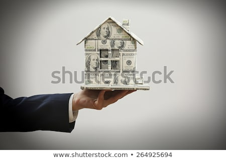 Businessman holding a house made of money Stock photo © photography33