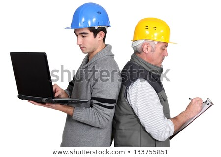 építész gyakornok laptop vágólap számítógép ipar Stock fotó © photography33