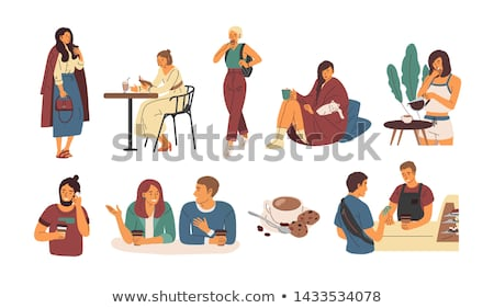 woman taking a break from shopping stock photo © photography33