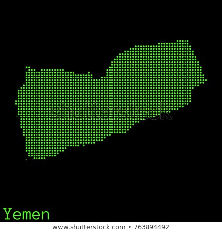 Old green map of Yemen Stock photo © speedfighter