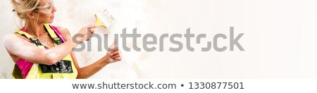 female painter with thumb up and copyspace stock photo © photography33