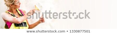 vrouwelijke · schilder · duim · omhoog · exemplaar · ruimte · handen - stockfoto © photography33