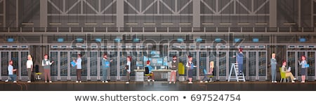 Woman accessing cloud computing system. Stock photo © REDPIXEL
