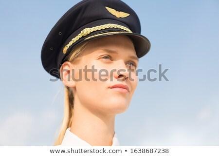 肖像 誇りに思う 女性 青 海 セクシー ストックフォト © pzaxe