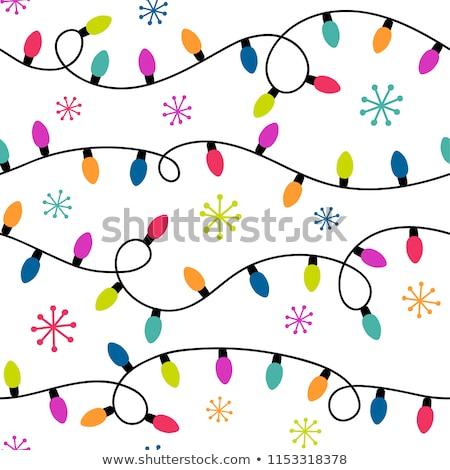 Noël · cadre · faible · bleu · flocons · de · neige - photo stock © experimental