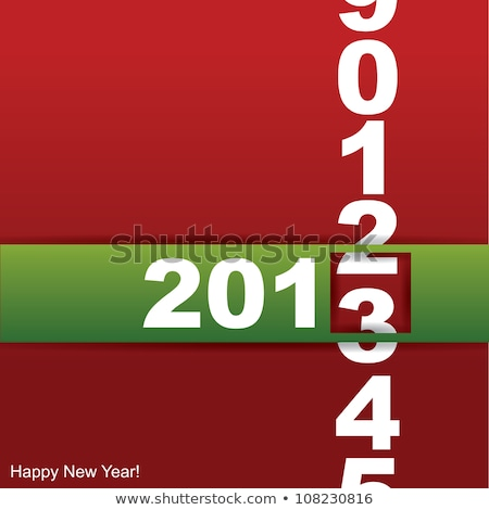 2013 yılbaşı vektör köşe kart web sitesi Stok fotoğraf © orson