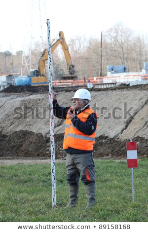 a foreman taking measure onsite stock photo © photography33