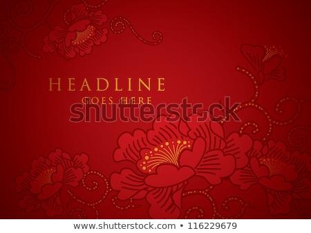 2012 Çin bahar festival kara tahta çizim Stok fotoğraf © raywoo