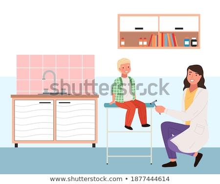 Arts weinig jongens reflex ziekenhuis gelukkig Stockfoto © wavebreak_media