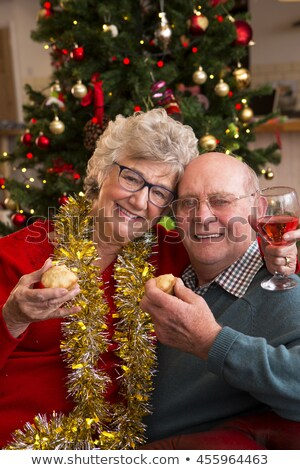 mince pies are they smiling stock photo © danielgilbey