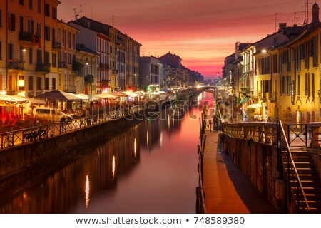 Grand canal at night Stock photo © michey