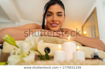 Kız stüdyo portre esmer kadın Stok fotoğraf © Lessa_Dar