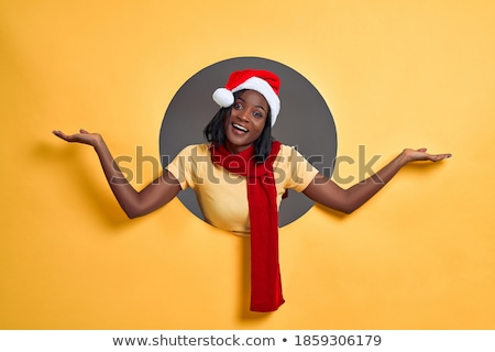 Stock photo: Santa has Somrthing Exciting to Say!