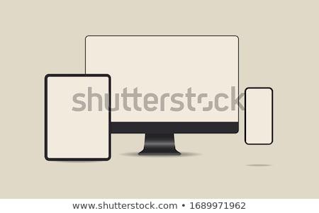 ingesteld · identificatie · borden · illustratie · formaat · eps - stockfoto © articular
