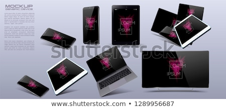 set of blank generic tablet pc stock photo © fotoscool