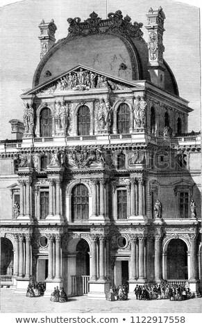 Louvre · Párizs · kilátás · este · 2012 · Franciaország - stock fotó © Roka