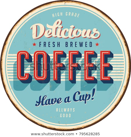 ヴィンテージ · コーヒー · 標識 · スタイル · グラフィックス · 新鮮な - ストックフォト © squarelogo