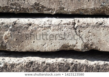 Cracked Concrete Slab Wall Background Stock photo © pixelsnap
