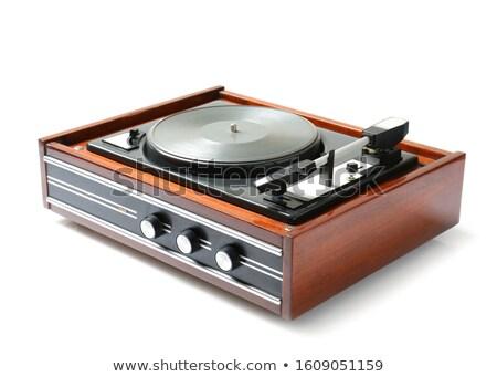 Vintage turntable Stock photo © alexskopje