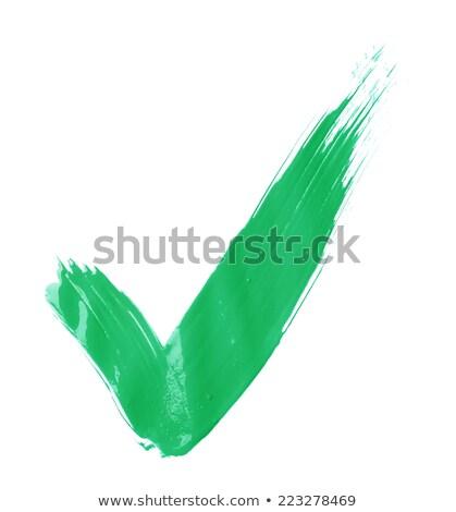Yeşil boya renkli 3D render çalışmak Stok fotoğraf © head-off