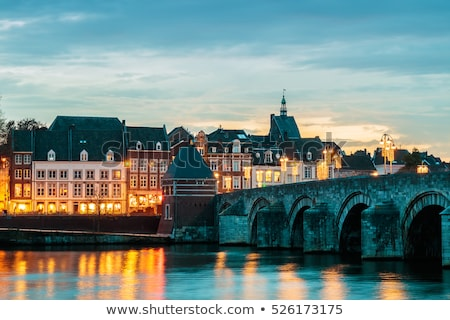 Street in Maastricht, The Netherlands Stock photo © Hofmeester