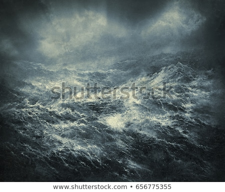 stormy · faro · rupe · top · onde · cielo - foto d'archivio © jrstock