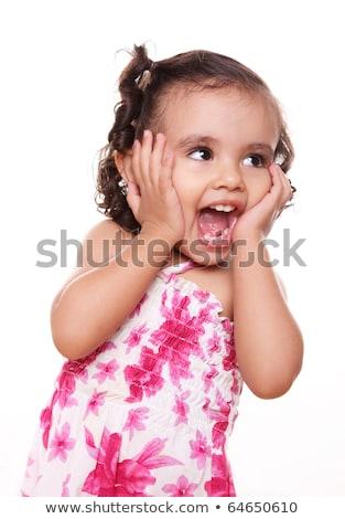 Kettő évek öreg lány kifejez boldog Stock fotó © dacasdo